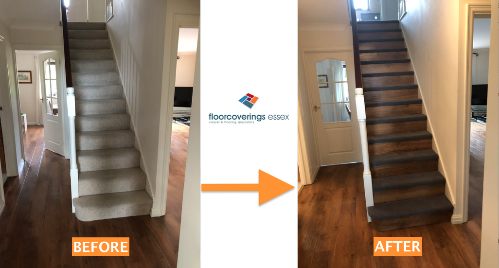 Volume 6 Before After Stairs Landing Carpet Lvt
